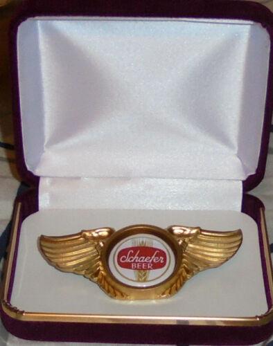 SCHAEFER Beer Brand Lager Bar Club Concert Biker Wing Vest Jacket Pin Badge Pub