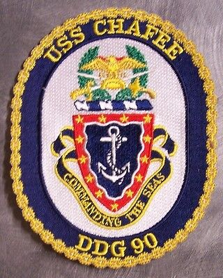 Navy Destroyer Ship (Embroidered Military Patch U S Navy ship Destroyer USS Chafee DDG-90 NEW )