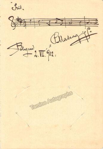 Mascagni, Pietro - Autograph Music Quote Signed 1902