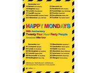 HAPPY MONDAYS - SOUTHEND CLIFFS PAVILION - 24TH NOVEMBER - 3 TICKETS - £45 EACH