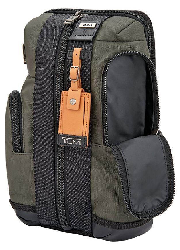 Tumi Alpha Bravo MONTEREY SLING Purse Bag Moss Green 222318MS2 $275