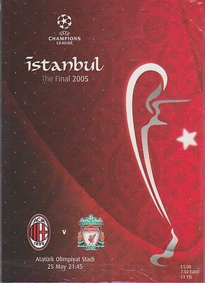 LIVERPOOL v AC MILAN CHAMPIONS LEAGUE FINAL PROGRAMME 2005 ORIGINAL NOT REPRINT