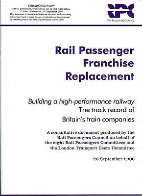 Rail Passengers Council Franchise Replacement 2000 35 page A4 +