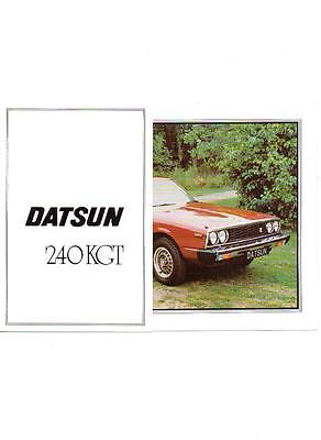 DATSUN 240 KGT SALES BROCHURE 1978