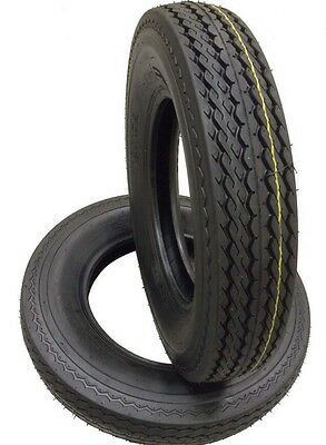 2 (TWO) 530-12 5.30-12 6 PLY RATED LOAD C T Hiway Speed Trailer Service Tires WD