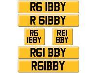 R6 IBBY Robby R61 BBY Gibby Ibrahim Iby AUDI Yamaha Bobby Robert Robbie IBBEY IBS IBZ number plate