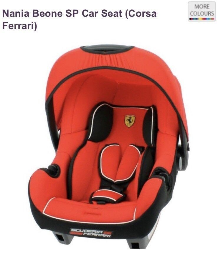 Ferrari Red Beone SP Group 0-Plus Car Seat Brand New Must Go Asap