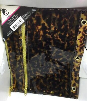 Studio C Tiger Binder Pouch New - Free Shipping Dual Pocket Free Shipping