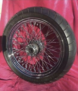 Wide Motorcycle Wheel & Tire