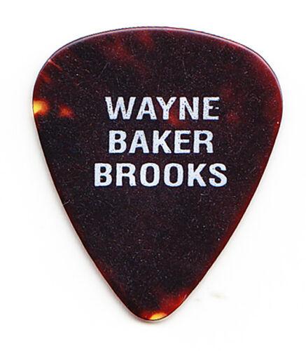 Wayne Baker Brooks Signature Brown Faux Tortoise Tour Guitar Pick