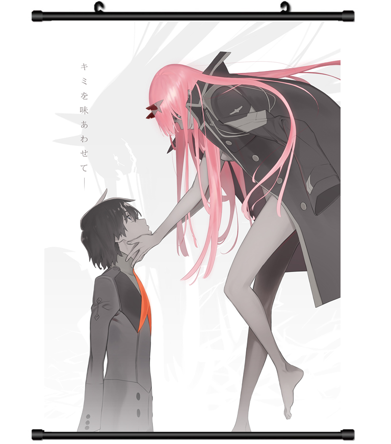 Hot Japan Anime Darling in the FranXX Poster Wall Scroll Hom