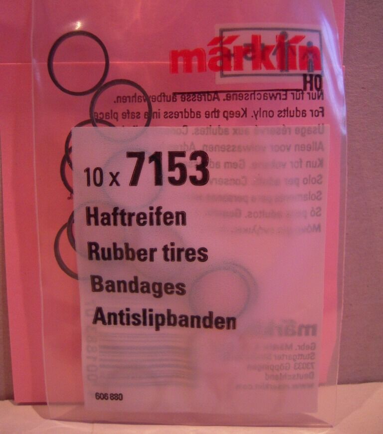 """Märklin H0 7151 Haftreifen /""""10 Stück/"""" NEU OVP"""
