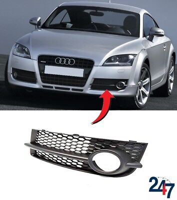 Audi TT 8J NS Left Lower Bumper Fog Light Grill Brand New Genuine 8J0807681B