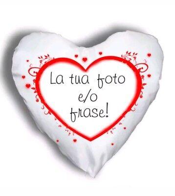 CUSCINO A CUORE 40X40 ROSSO AMORE CUORE LIFE FOREVER SAN VALENTINO REGALO
