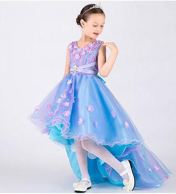 Children Birthday For Wedding Party Kids Fantasy Prom Flower Girl Dresses Gown