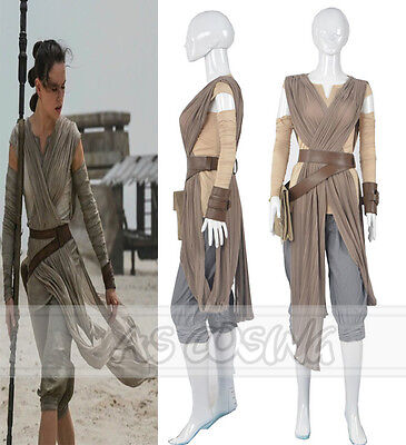 Star Wars The Force Awakens Rey Cosplay Costume Halloween Outfit Top Quality](Top Quality Halloween Costumes)