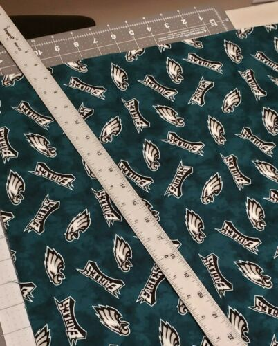"PHILADELPHIA EAGLES Tie Dye Cotton Flannel FQ 18""L x 20 1/"