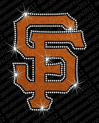 San Francisco Giants Glitter - MLB:  San Francisco Giants - Bling - Iron-on Glitter Vinyl & Rhinestone Transfer