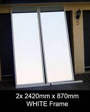 XXL MIRRORS - 2x 2420 x 870 - Framed GYM STUDIO DANCE FITNESS Penrith Penrith Area Preview