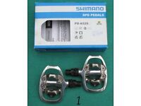 Shimano A-520 SPD pedals, two pairs at £25 and £12, £35 for both