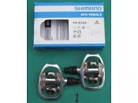 Shimano clipless pedals, two pairs, separate or together, £35 for both