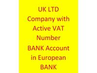 UK Limited Company + Active VAT Number + Bank Account in European Bank