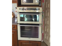 Stove double oven