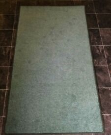 New wool mix green rug