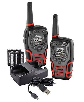 28-Mile Range Rugged 2-Way Radio Walkie Talkie Value Pack and Dock, 28 Radius