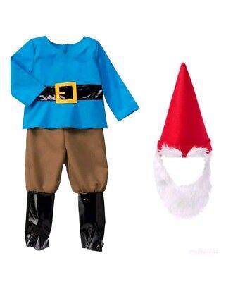 GYMBOREE HALLOWEEN BOY GNOME COSTUME w/ HAT & BEARD 2T NWT - Halloween Costumes W Beards
