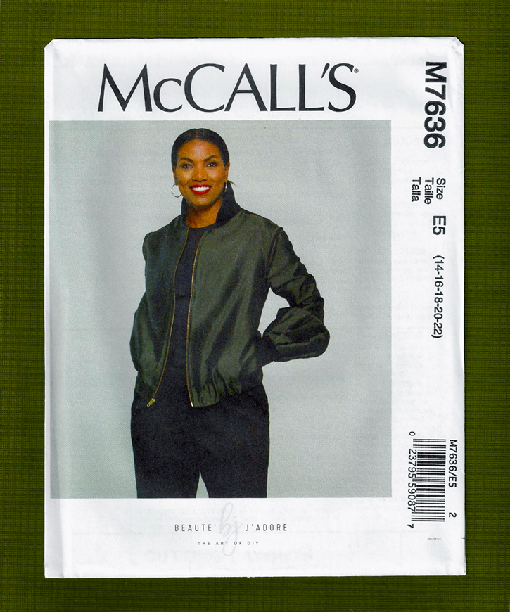 NEW! Misses Bomber Jacket Sewing Pattern  McCalls 7636
