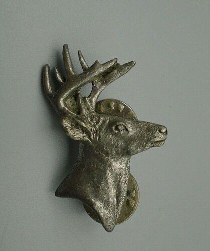 Vintage Pewter Deer Buck Head by GG Harris 1999 Lapel Tie Tack Pin