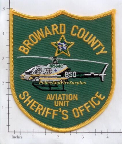 Florida - Broward County Sheriff Aviation Unit FL Police Dept Patch