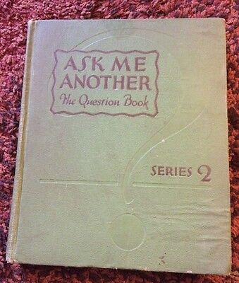 Ask Me Another The Question Book Series 2 By Justin Spafford And Lucien Esty