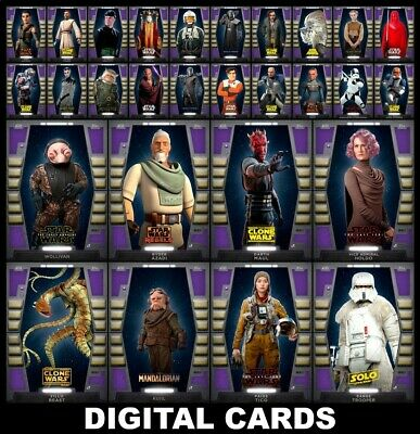 Topps Star Wars Card Trader 2020 Base Series 2 W1 [28 CARD PURPLE PREVIEW SET]
