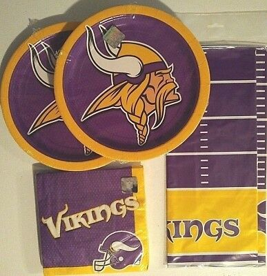 Minnesota Vikings Party Supplies (MINNESOTA VIKINGS NFL FOOTBALL Party Supplies w/Plates,Napkins & Table)