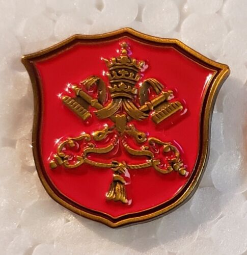 HOLY SEE Vatican Pope Catholic Seal LAPEL PIN Tie Tack