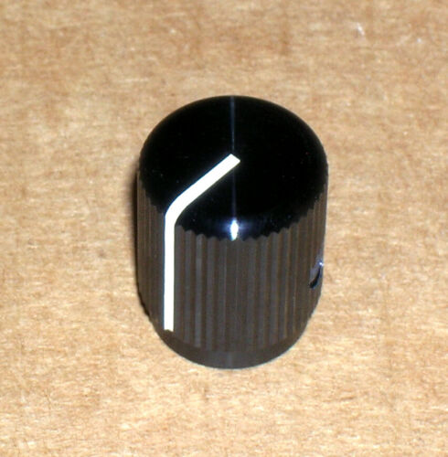 "Alcoknob model KLN-500B aluminum knob ~ 1/2"" diameter - 1/4"" shaft ~ NEW-NOS!"