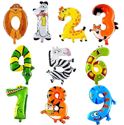 Animal Number Foil Balloon Kids Party Birthday Wedding Decor Balloon Child Gift - Baby Halloween Birthday Decorations
