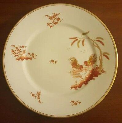 "Richard Ginori Siena Rust Chicken Rooster Gold Accent Dinner Plate 10"" Smooth"