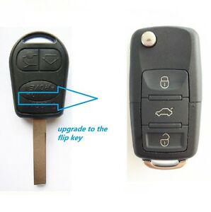 LAND ROVER 3 BUTTON REMOTE FLIP KEY FOR RANGE ROVER L322 VOGUE HSE