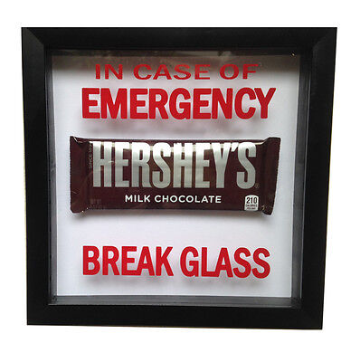 In Case Of Emergancy - Break Glass . RED gag gift prank office VINYL DECAL ONLY