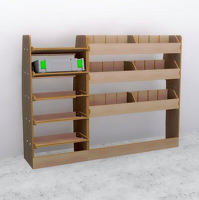2014 Ford Transit Connect LWB Full Driver Side Plywood Racking Shelving
