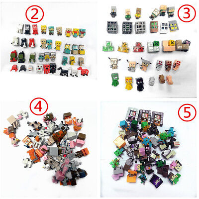 36 PCs/lot 1.5cm- 3cm Minecraft Mini Toys Characters action Figure Gift Hot