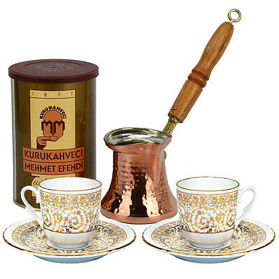 Turkish Coffee Set for Two with Mehmet Efendi coffee - Tulip
