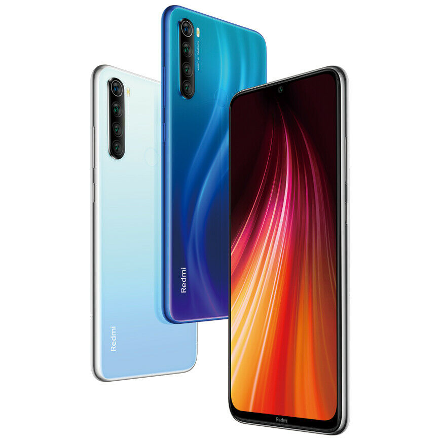 "Xiaomi Redmi Note 8 4+128GB Smartphone Snapdragon 6.3"" Quad Cameras 3.5mm"