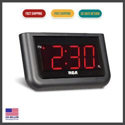 Digital Alarm Clock 7 LED Large Digit Number Home Office Desk Table Portable