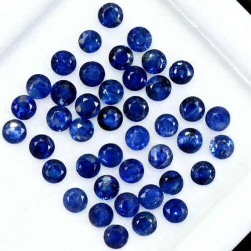Wholesale Lot of 4mm Round Facet Natural Blue Sapphire Loose Calibrated Gemstone