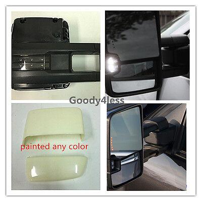 07-13 Silverado Sierra Towing Mirrors Power Heated Smoke LED Signal Backup Lamp