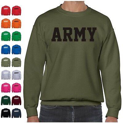 Army Crewneck Sweatshirt - US ARMY Military Physical Training PT Crewneck Sweatshirt